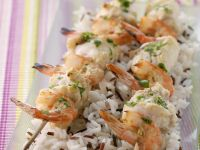 White Fish and Prawn Kebabs recipe