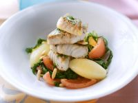 White Fish with Arugula Salad recipe