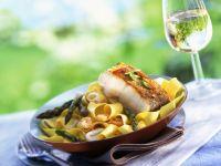 White Fish with Asparagus Pasta recipe