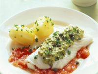 White Fish with Herb Topping and Sauce recipe