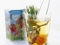 White Tea with Dried Apricots and Rosemary recipe