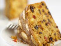 Whole Almond Topped Fruit Cake recipe