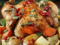 Whole Chicken with Garnishes recipe