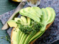 Whole-wheat Bread with Avocado Slices recipe