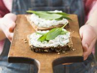 Whole Wheat Sandwiches with Wild Garlic Spread recipe