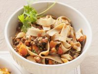 Whole-wheat Tagliatelle with Lentils recipe