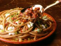Wholegrain Macaroni with Bacon and Chives recipe