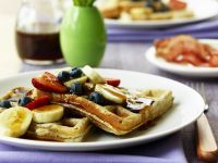 Wholemeal Waffles with Fruit and Syrup recipe