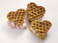 Wholemeal Waffles with Strawberry Cream Topping recipe