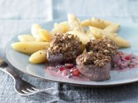 Wild Boar Medallions with Walnut Crust