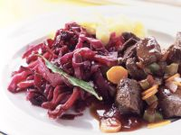 Wild Boar Stew with Red Cabbage recipe