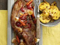 Wild Boar with Chestnuts and Polenta recipe