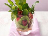 Wild Herb Salad with Raspberry Walnut Dressing recipe