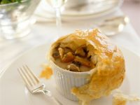Wild Mushroom Soup with Puff Pastry Crust recipe