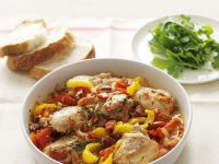 Wine-Braised Chicken with Peppers recipe