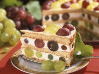 Wine Cream Torte with Grapes recipe