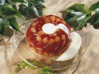 Wine Jelly with Grapes and Vanilla Sauce recipe