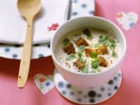 Wine Soup with Marjoram and Croutons recipe