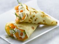 Wrapped Crepes with Fish Filling recipe