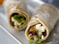 Wraps with Cheese and Peas recipe
