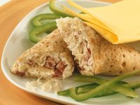 Wraps with Sauerkraut and Salami recipe