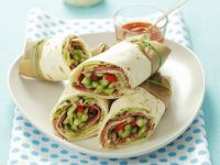 Wraps with Vegetables and Salami recipe
