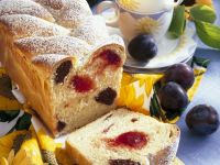 Yeast Cake with Almonds and Plums recipe