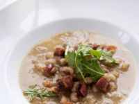Yellow-eyed Bean Soup with Pancetta recipe