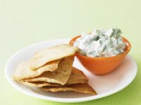 Yoghurt and Herb Dip with Toasted Pita Bread recipe