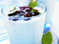 Yogurt Cream with Cherry Sauce recipe