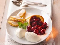 Yogurt Mousse with Cherry Compote recipe