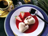 Yogurt Vanilla Cream with Strawberry Sauce recipe