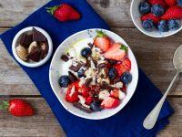 Yogurt with Chocolate, Berries, and Nuts recipe