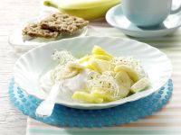Yogurt with Pineapple and Alfalfa Sprouts recipe