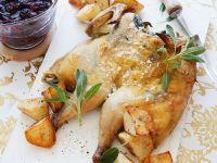 Roast Spring Chicken with Port Sauce recipe