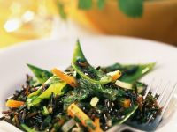 Young Vegetables with Wild Rice and Herb Dressing recipe