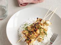 Zesty Chicken Skewers with Rice recipe