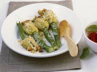 Zucchini and Cheese Stuffed Zucchini Blossoms recipe