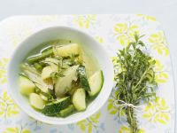 Zucchini and Fennel Soup with Green Beans recipe