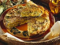 Zucchini and Mushroom Frittata recipe