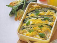 Zucchini and Ribbon Pasta Gratin recipe
