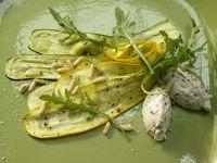 Zucchini Carpaccio with Basil and Ricotta recipe