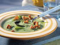 Zucchini Cream Soup with Chanterelles recipe
