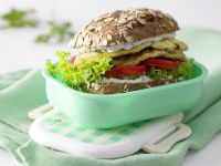 "Zucchini Omelet ""Burger"""
