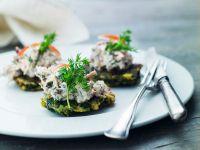 Zucchini Pancakes with Tuna Salad recipe