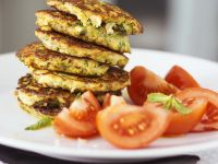 Zucchini Patties with Tomatoes recipe