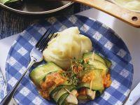 Zucchini Rolls with Mozzarella recipe