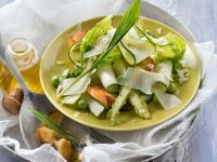 Zucchini Salad with Peas and Green Asparagus recipe