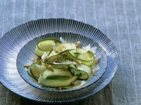 Zucchini Salad with Shaved Parmesan and Pine Nuts recipe