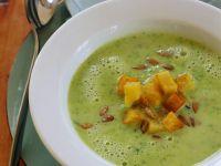 Zucchini Soup with Crispy Potato Cubes recipe